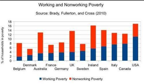 Working and Non working Poor bar graph