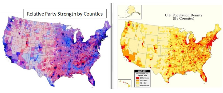 Rural Republicans VS The Urban Bubble Or How Trump Pulled Off An - Democrat republican map of the us